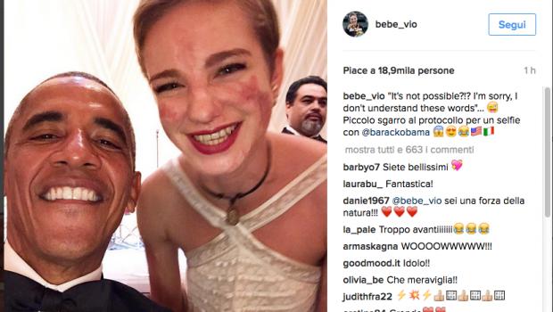 Beatrice Vio e il selfie con Obama