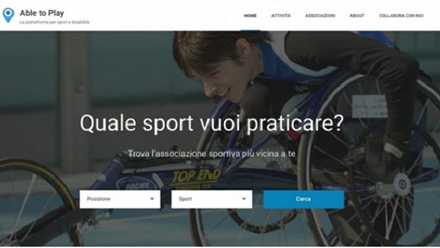 Able-to-play, il portale per gli sportivi con disabilità